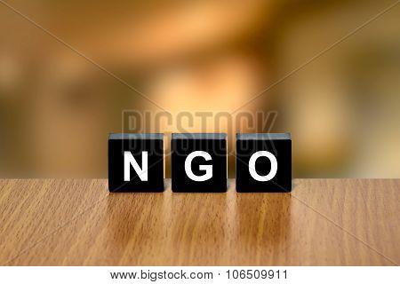 Ngo Or Non-governmental Organization On Black Block