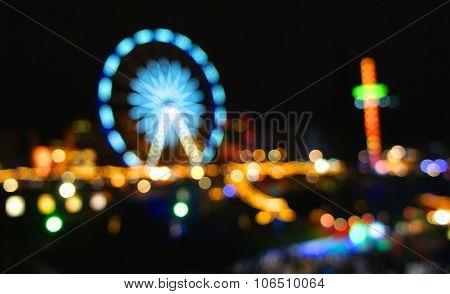 Abstract Amusement Park, Defocused, Blurred