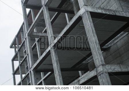 construction site, concrete structure of new building