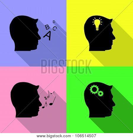 Set Of Head Icons