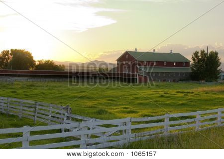 Countryside - Fence Surrounding A Ranch