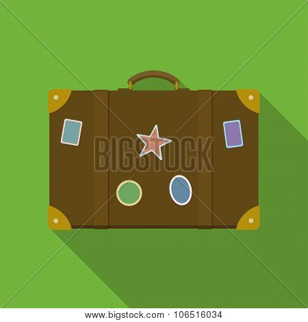 Icon Of Brown Suitcase