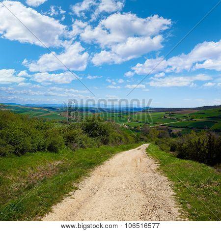 Montes de Oca track by the Way of Saint James in Castilla Burgos