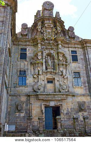 Santiago de Compostela end of Saint James Way Santa Calra Convento in Galicia Spain