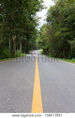Asphalt Road Way Empty