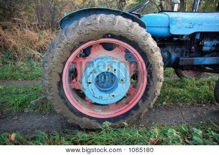 Muddy Tractor Wheel