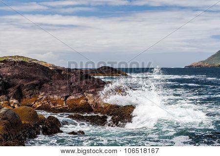 Breaking Water At Derrynane Bay