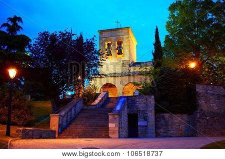 Way of Saint James church in Cizur Menor near Pamplona Spain
