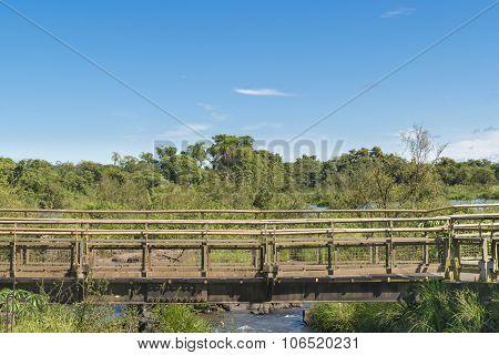 Birdge At Parana River At Iguazu Falls