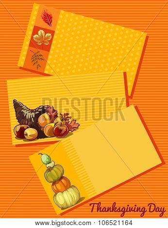 Set of three cards Thanksgiving day