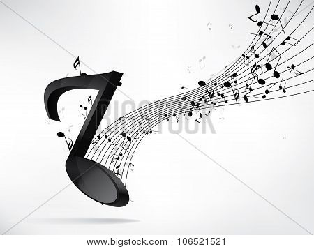 Abstract music backgroud with notes. Abstract vector illustration with background.