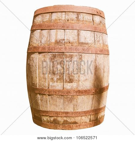 Retro Looking Wooden Barrel Cask