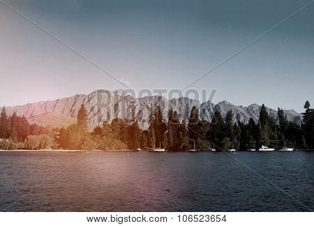 Queenstown New Zealand Lake Landscape Concept