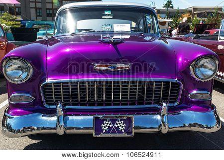 Classic Purple 1955 Chervolet