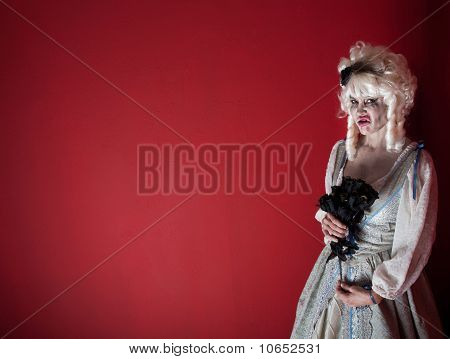 Woman Dressed As Marie Antoinette