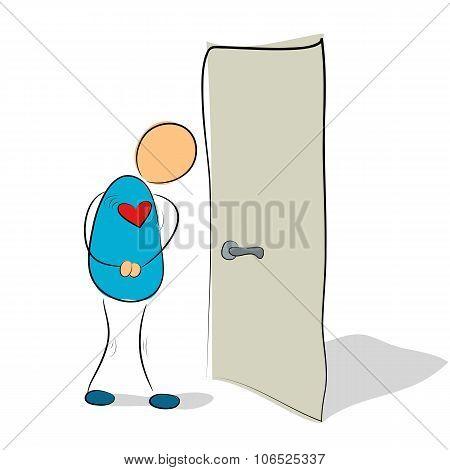 Social phobia - closed door