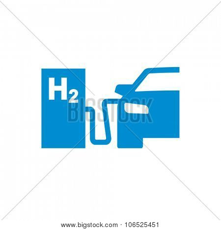 Car Hydrogen Station Vector Icon