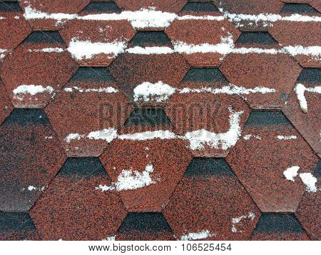 Roof Shingles With Snow