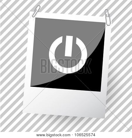 switch element. Photoframe. Vector icon.