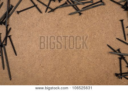 Screws on the wood plate