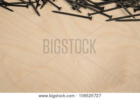 Screws on top of the wood plate
