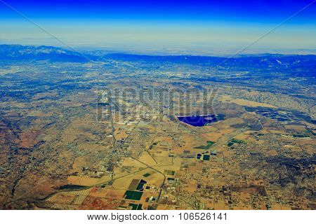 Lake Perris State Recreation Area At Edgemont From Top