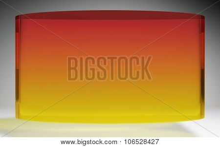 Futuristic Liquid Crystal Display Panel Orange