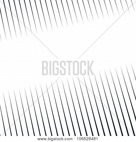 Striped  Psychedelic Background With Black And White Moire Lines. Gradient Optical Pattern, Motion E