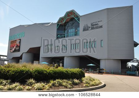 Nauticus, a maritime-themed science center and museum, in Norfolk, Virginia