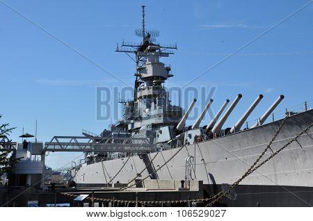 USS Wisconsin Battleship (BB-64) in Norfolk, Virginia