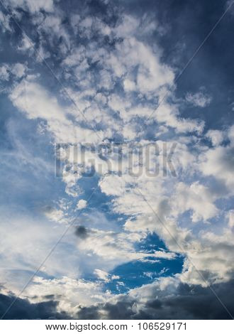 Image Of Sky On Day Time For Background Usage(vertical)
