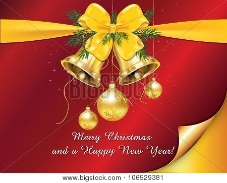 Greeting card for New Year and Christmas