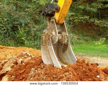 Excavator at rest