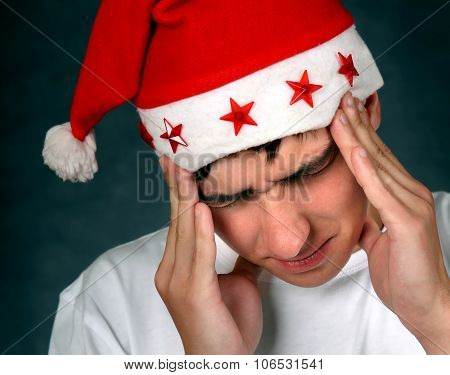 Young Man Feel Headache
