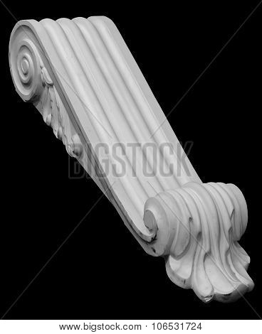 Decoration Item Made Of White Plaster