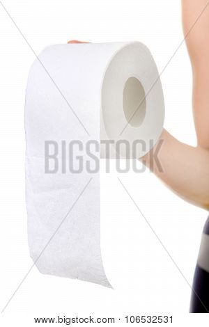 Toilet Paper In The Hand