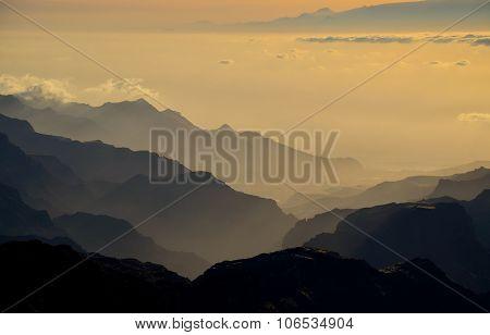 Shadows at sunset, Gran canaria island