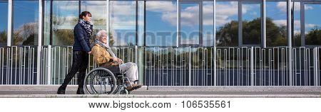 Wheelchair Man In City