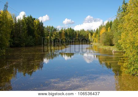 River With Autumn Colours