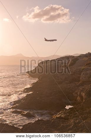 Air Berlin jetliner descends