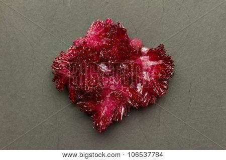 Red Crystal On Black