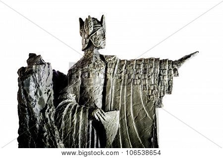 Zagreb, Croatia - January 23: Lord Of The Rings Figurine Showing Elendil The Argonath, King Of Gondo
