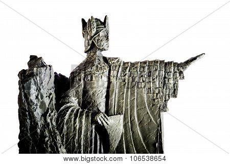 Zagreb, Croatia - January 23: Lord Of The Rings Figurine Showing Elendil The Argonath, King Of Gondo