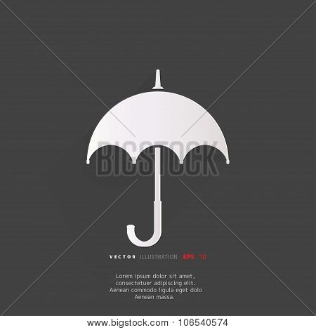 Umbrella icon . Abstract vector illustration with background.