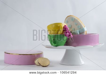Easter traditional polish cake - mazurek and easter candies