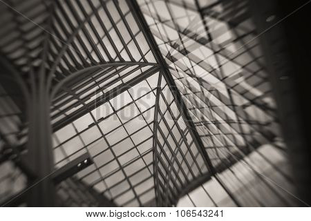 Abstract View of Glass Roof