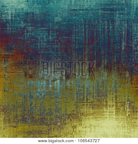 Vintage antique textured background. With different color patterns: yellow (beige); brown; blue; cyan