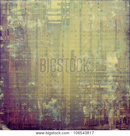 Grunge aging texture, art background. With different color patterns: yellow (beige); brown; purple (violet); gray