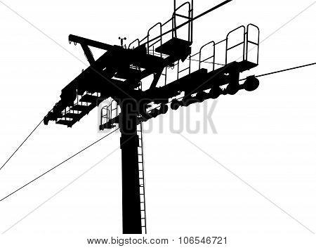 Air gondola lift.