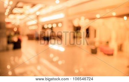 Image Of Blur People Walking In Hotel ' S Lobby